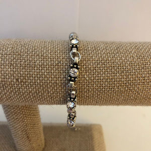 NWOT Silver and Diamond Bracelet